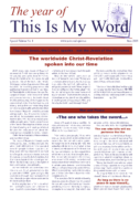 This Is My Word – Periodical No. 1