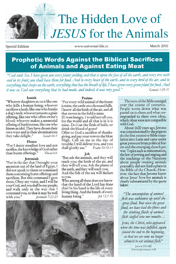 The Hidden Love of Jesus for the Animals - Special Edition