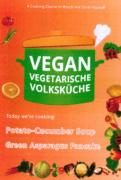 VEGAN VEGETARIAN FOLK'S KITCHEN. Potato-Cucumber Cream Soup & Green Asparagus Pancake